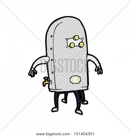 comic book style cartoon funny robot
