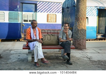 Passengers Waiting For Trains In India