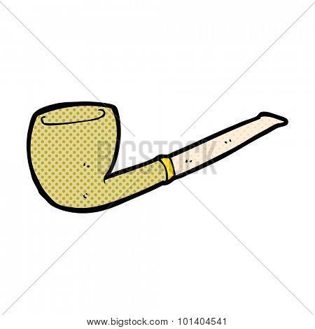 comic book style cartoon pipe