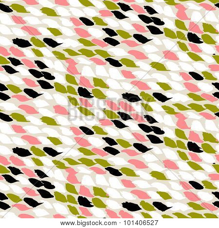 Pattern with small brushed dots