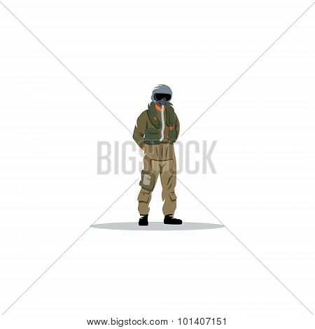 Air force. Vector Illustration. Design template Isolated on a white background