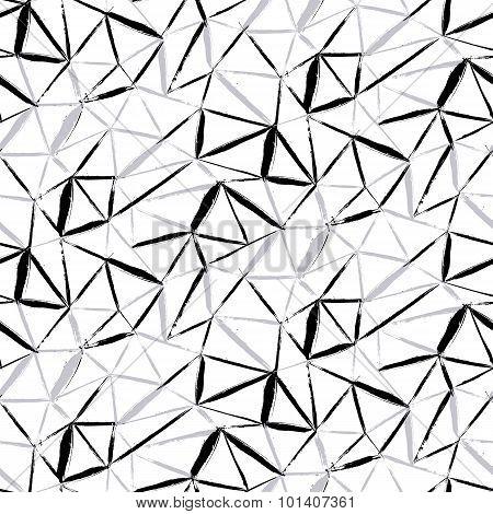 hand painted geometric pattern