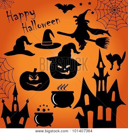 Halloween Vector Symbols Collection.