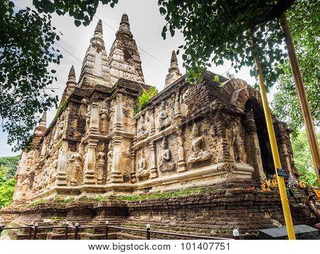 Stupa At Wat Jet Yod In Chiang Mai Province