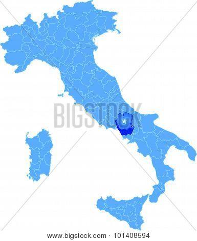 Map Of Italy, Caserta