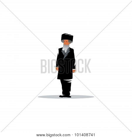 Jewish Man Sign. Jew. Vector Illustration.