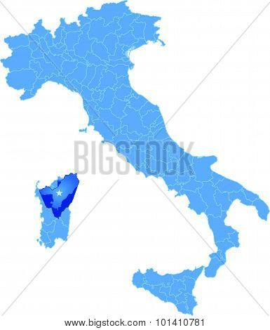Map Of Italy, Nuoro