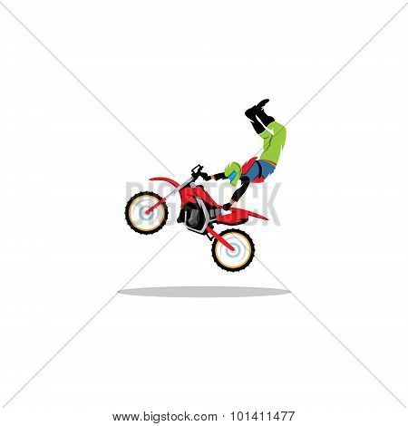 Motocross Sign. Vector Illustration.