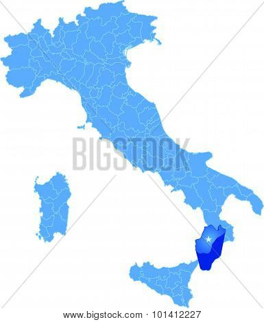 Map Of Italy, Reggio Calabria