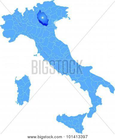 Map Of Italy, Verona