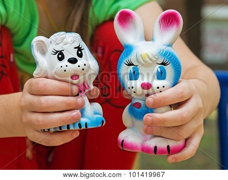 Rubber Toy Rabbit