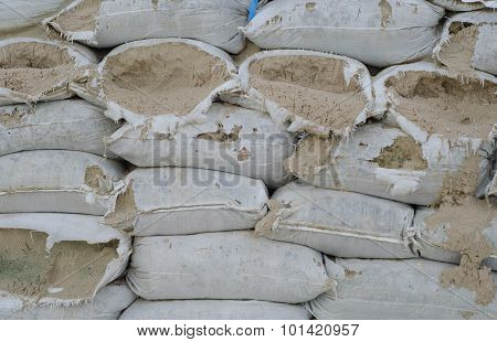 Bunkers Made Of Sandbags