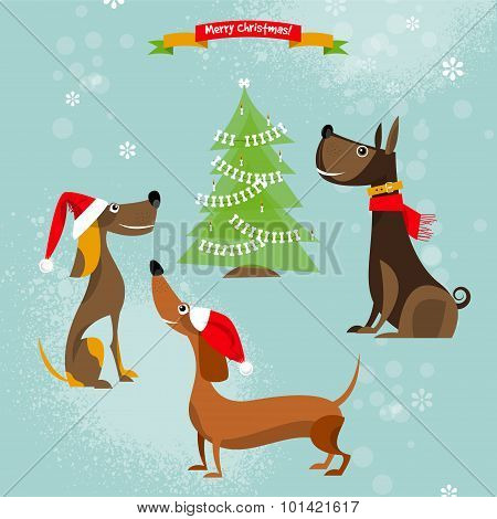 Holiday For Dogs. Merry Christmas.