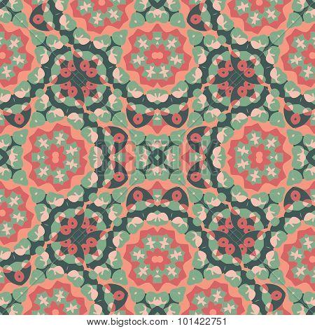 Seamless Oriental Wallpaper. Endless Orient Inspired Background.