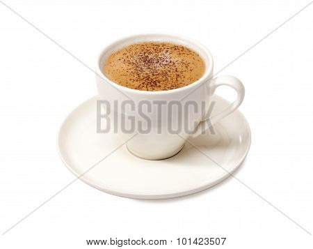 cappuccino on a white background