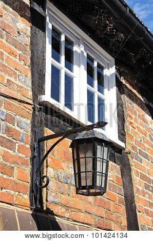 Lantern on cottage wall, Turville.