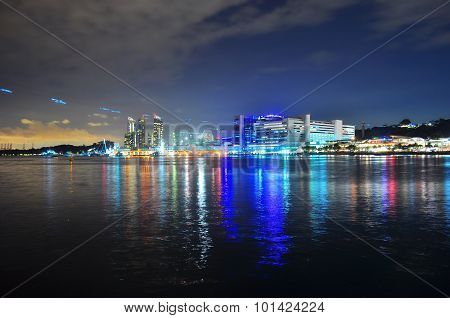 Colourful Harbourfront by night