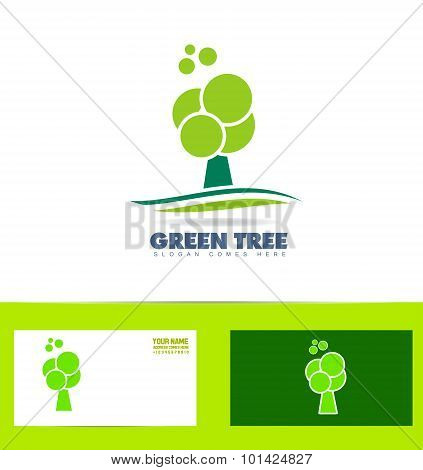 Green Tree Logo Icon