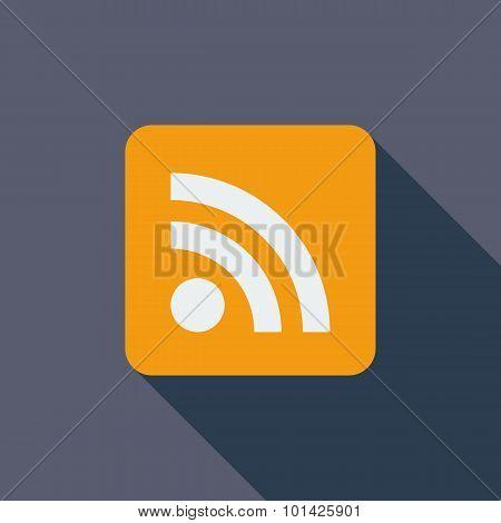 Rss flat icon.