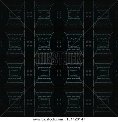 Seamless ellipses pattern black green