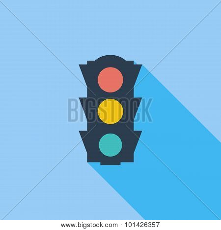 Traffic light icon.