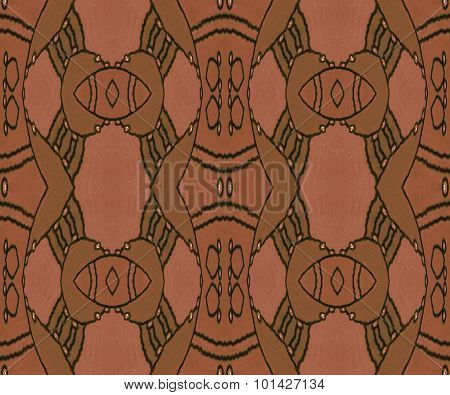 Seamless ornaments brown