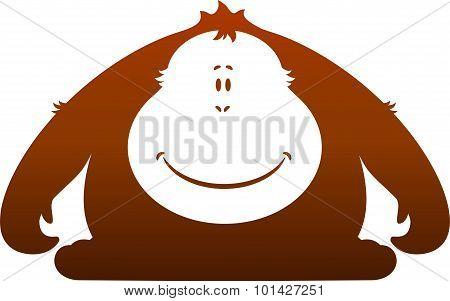 Monkey. Silhouette