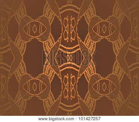 Seamless ornaments brown gold shiny