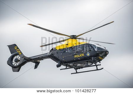 An NPAS police helicopter in the sky