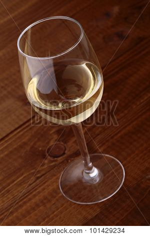 One Glass With White Wine