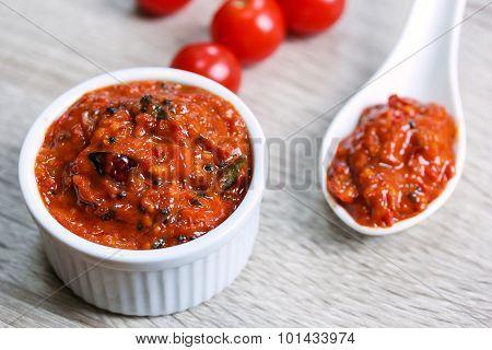 Tomato Chutney - Indian food