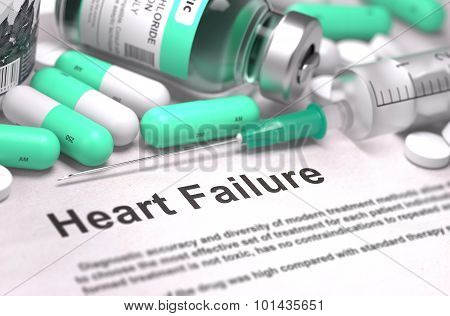 Heart Failure Diagnosis. Medical Concept.