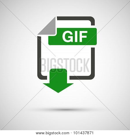 GIF file download, on a gray background