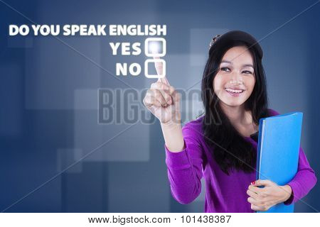 Teenage Girl Learn English Speaking