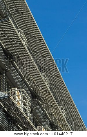 Office Building Against Blue Sky