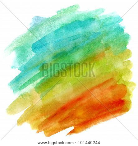 Abstract watercolor vibrant background texture