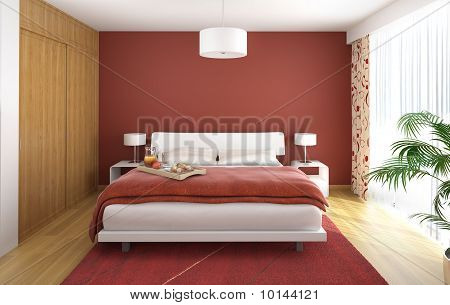 Interior Design Bedroom Red