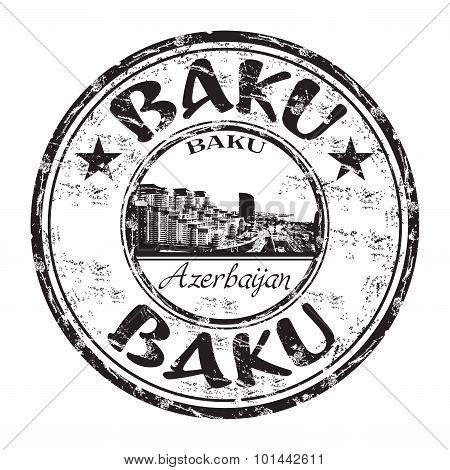 Baku grunge rubber stamp