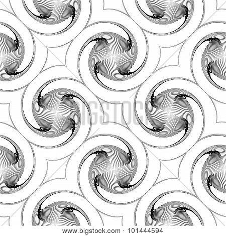 Design Seamless Monochrome Twirl Movement Background