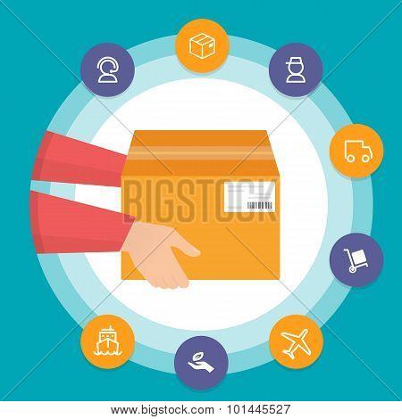 Logistics delivery illustration