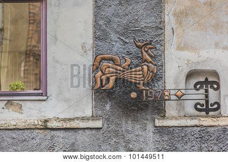 Sculpture In Riga, Latvia.