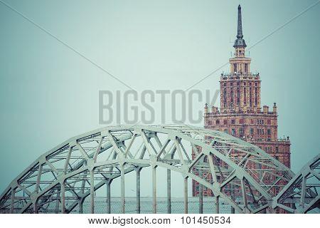 Skyline Of Riga Seen Across The River Daugava