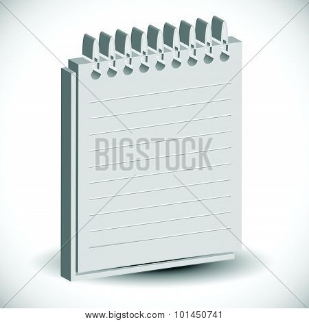 Notebook, Copybook, Exercise Book With Ruled, Lined Page.