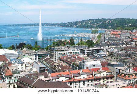 Aerial view of Geneva