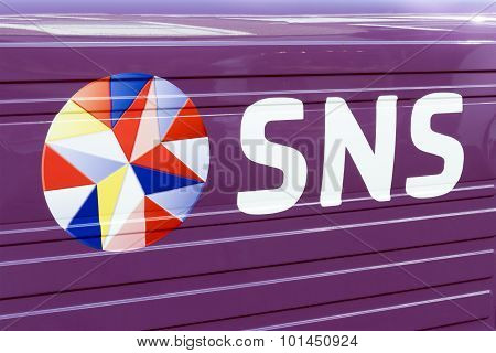 Sns Bank Sign Installed Outdoor.