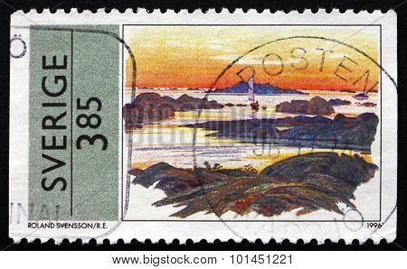 Postage Stamp Sweden 1996 Summer Scene, By Roland Svensson