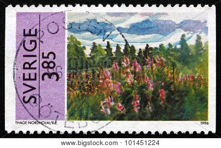 Postage Stamp Sweden 1996 Summer Scene, By Thage Nordholm