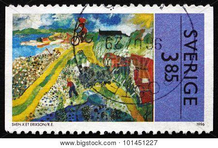 Postage Stamp Sweden 1996 Summer Scene, By Sven X:et Erixson