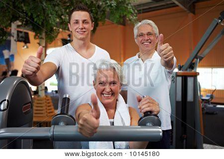 Successful Fitness Team
