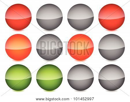 Traffic Lights On White. Traffic Lights, Traffic Lamps Vector Illustration.